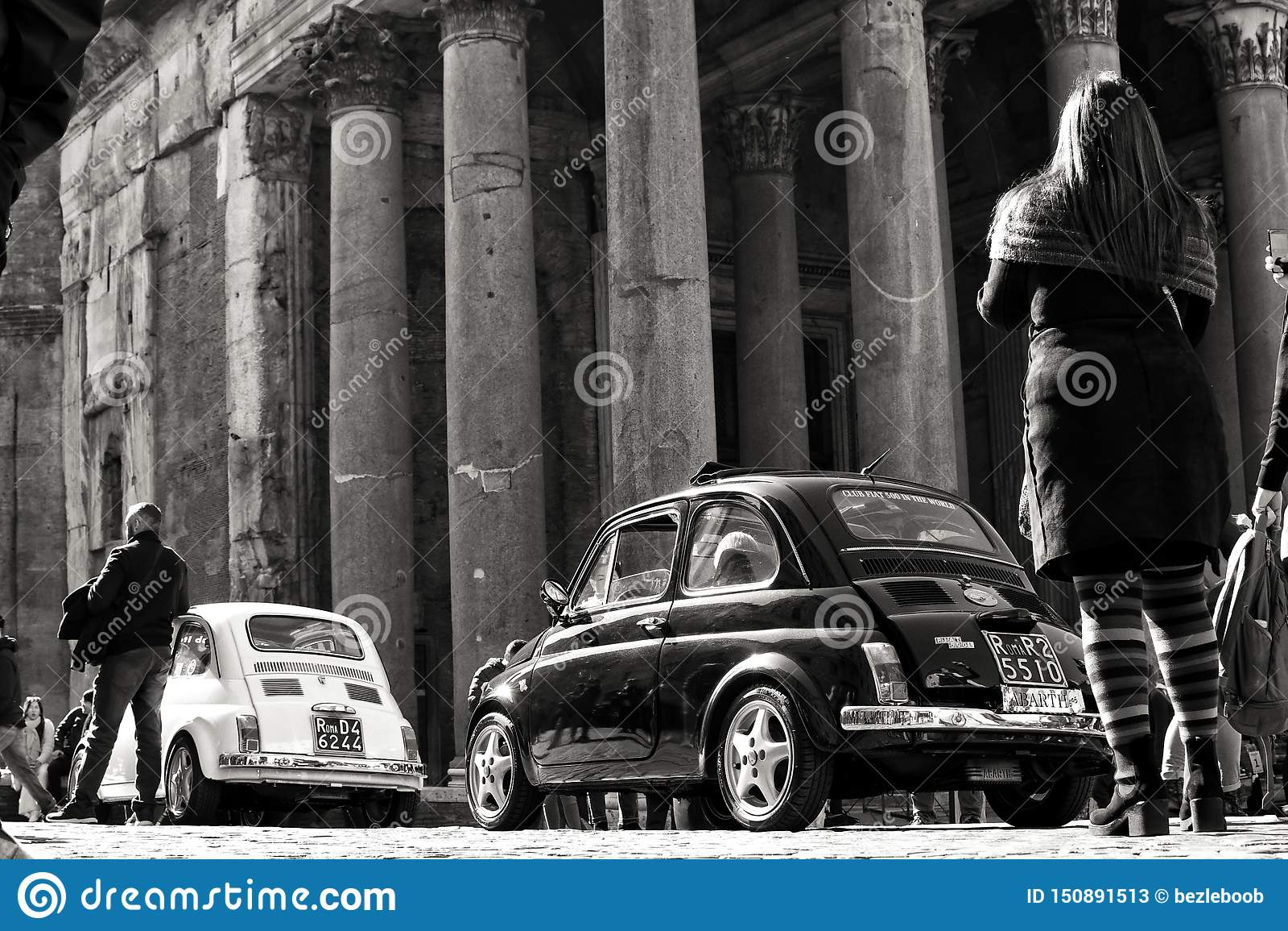 Coches del vintage en Roma