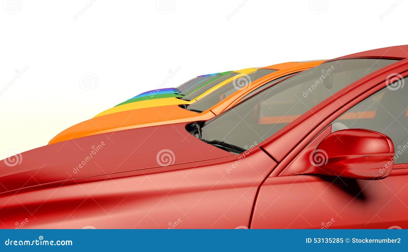 coches modernos en la accin coches a estrenar del de coches en fila stock de