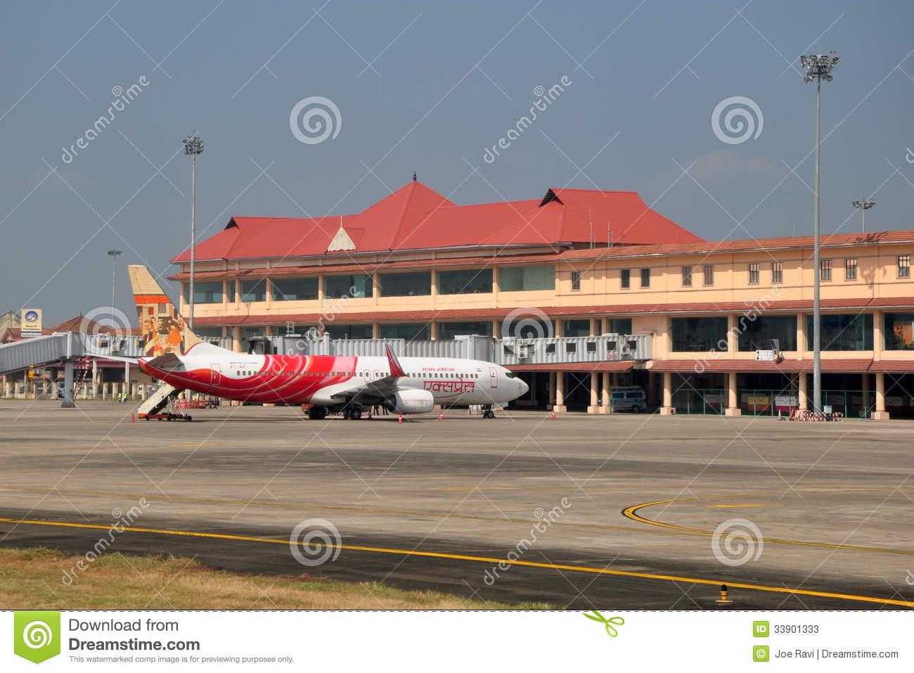Kochi, India - Jan 10, 2012: An Air India Express Boeing 737 parked at ...