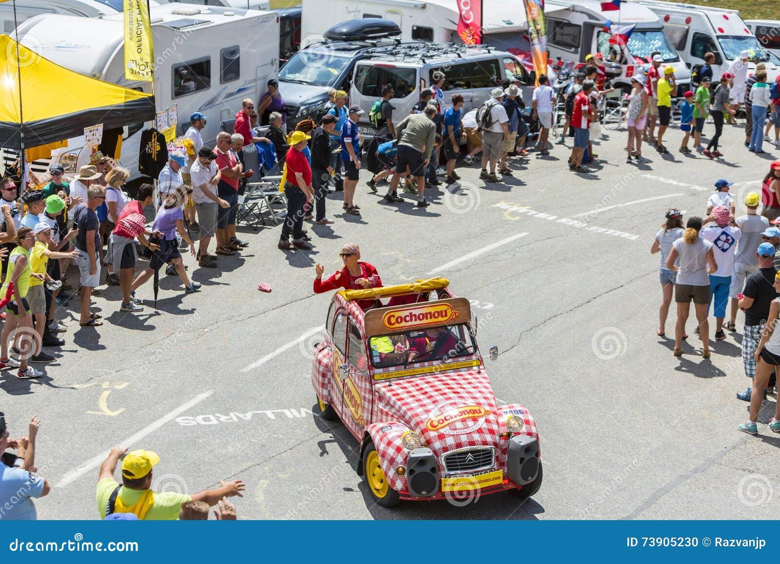 Cofidis Vehicle In Alps - Tour De France 2015 Editorial