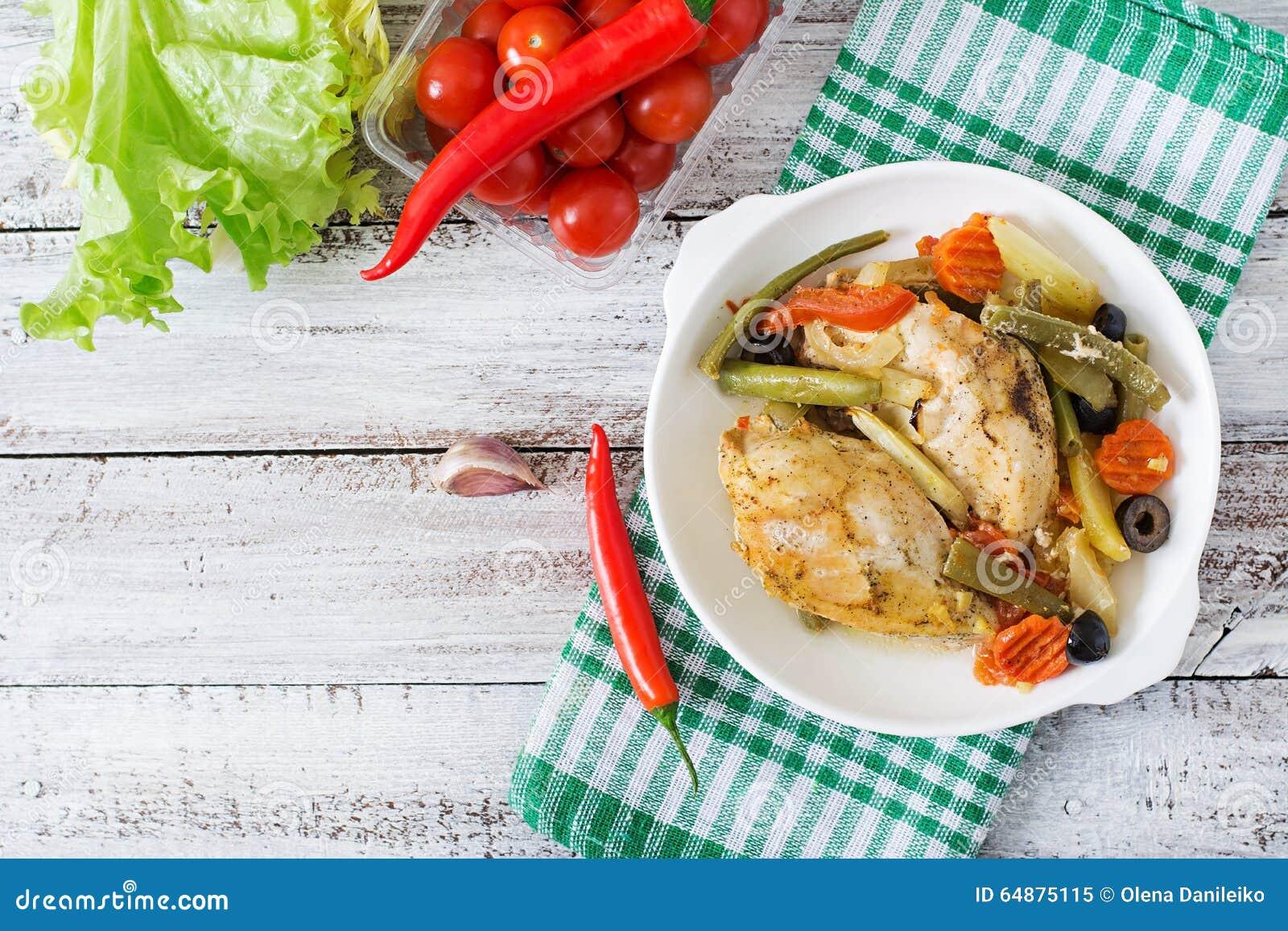 Dieta del pollo cocido