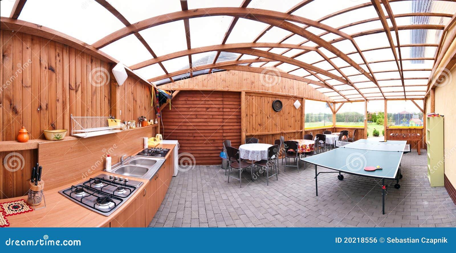 Cocina al aire libre foto de archivo. Imagen de europa - 20218556