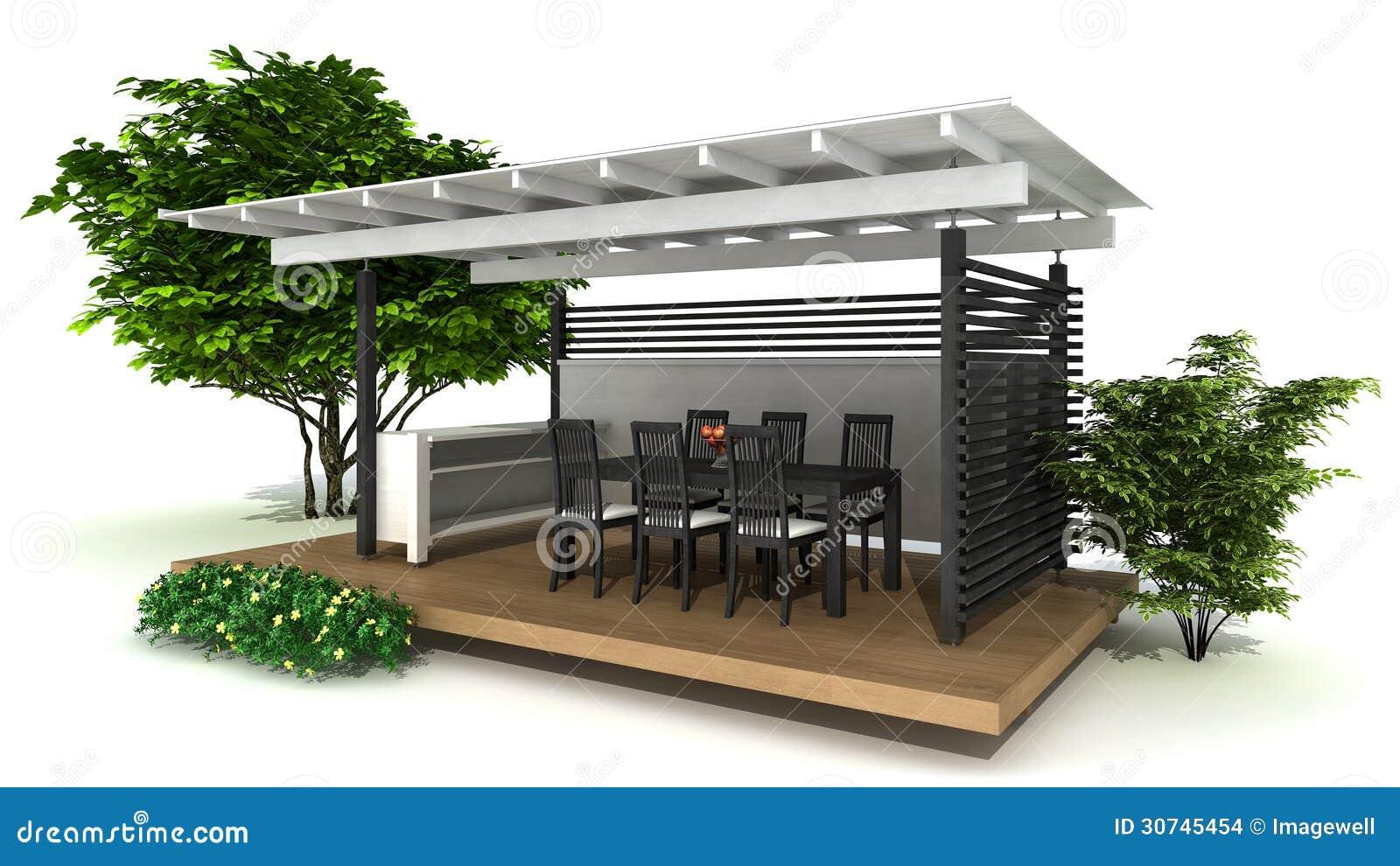 Cocina al aire libre stock de ilustraci n ilustraci n de for Comedor al aire libre