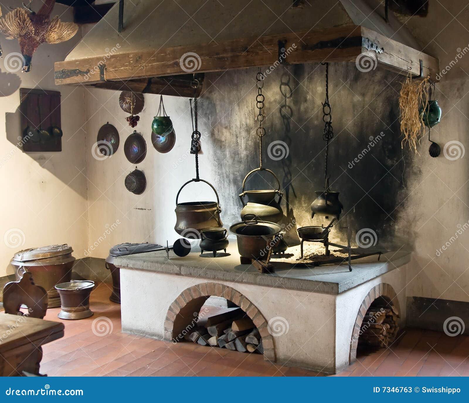 Cocina antigua imagen de archivo imagen de horno - Fotos de cocinas antiguas ...