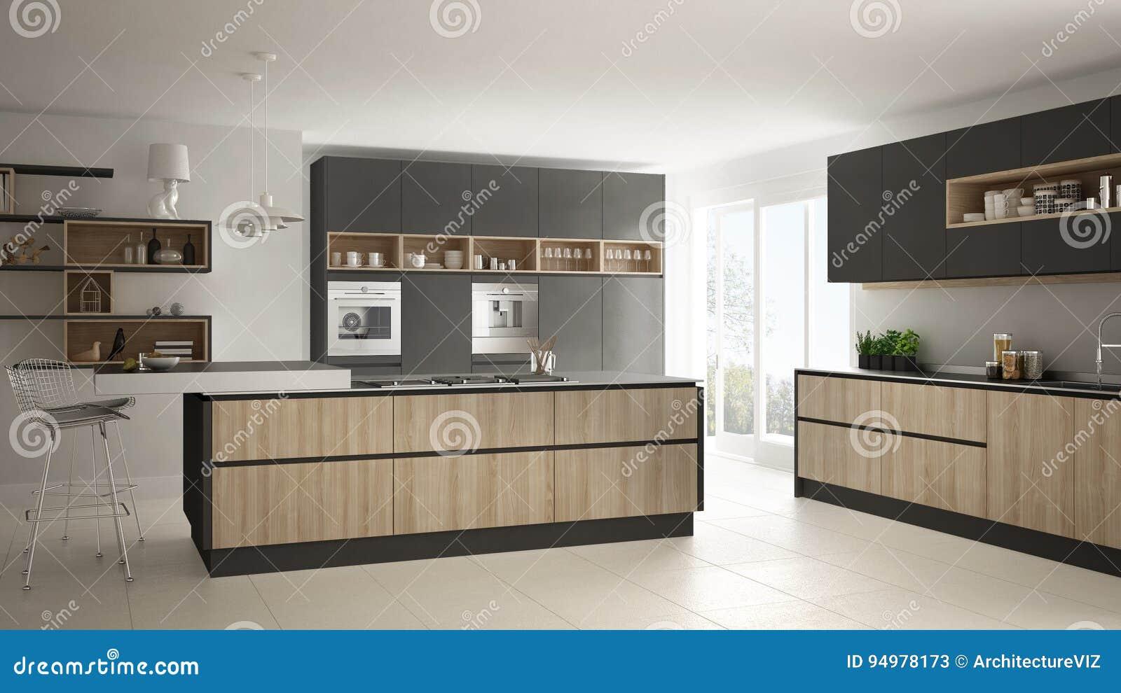 Cocina blanca y madera moderna muebles de ikea encimera cocina de madera cocinas nrdicas - Eurokit cocinas ...