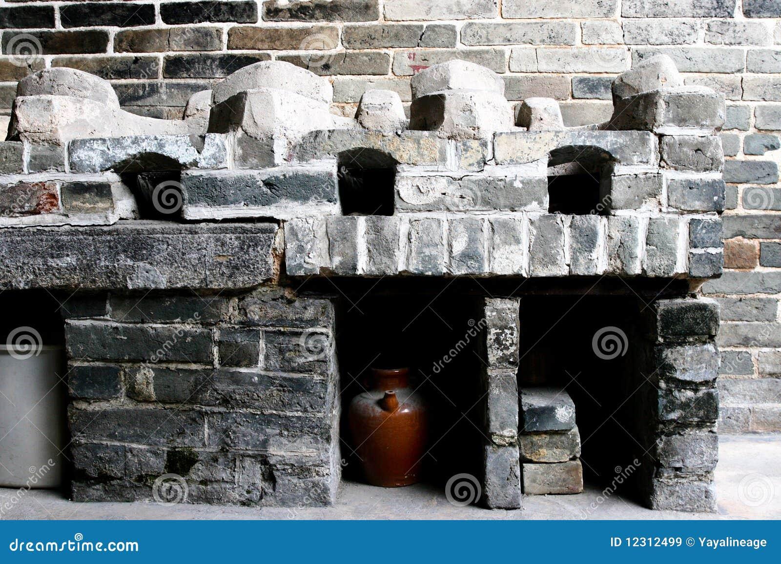 Cocina china vieja imagen de archivo. Imagen de conservador - 12312499