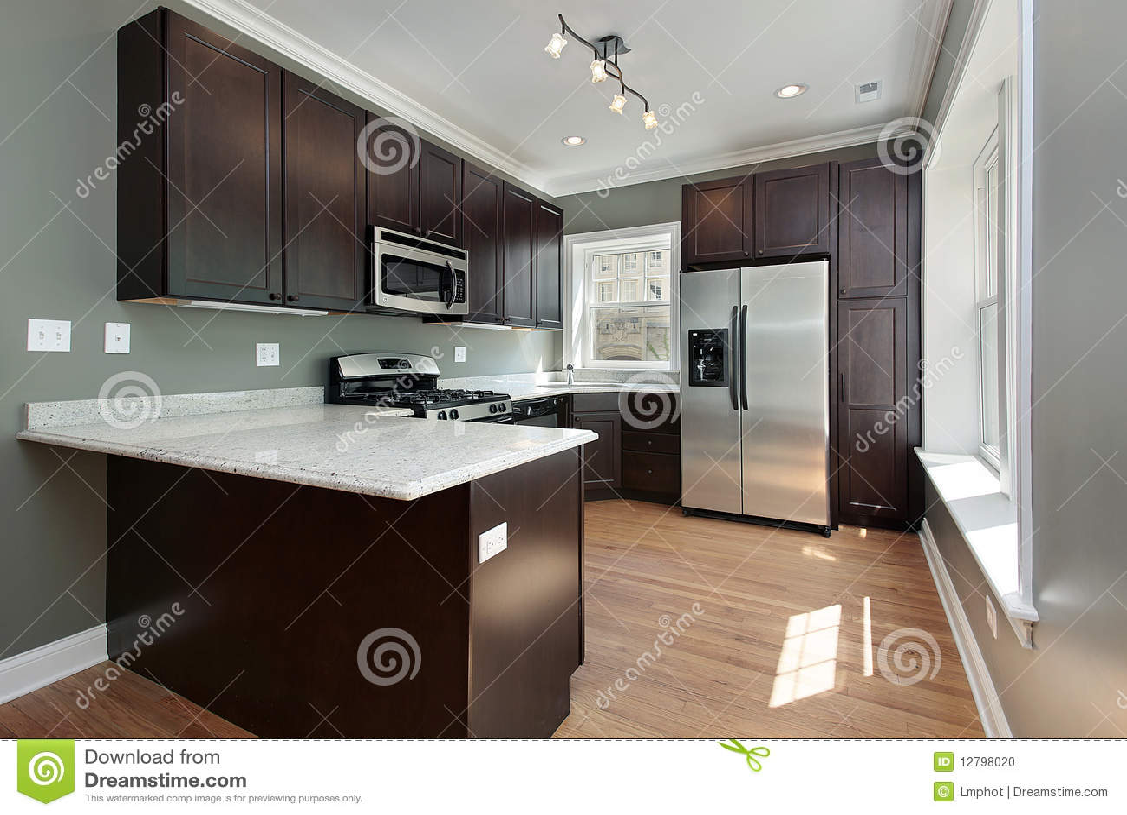 Muebles modernos en caoba obtenga ideas diseo de muebles para su cocina con el cabinetry de madera de caoba foto de archivo thecheapjerseys Choice Image