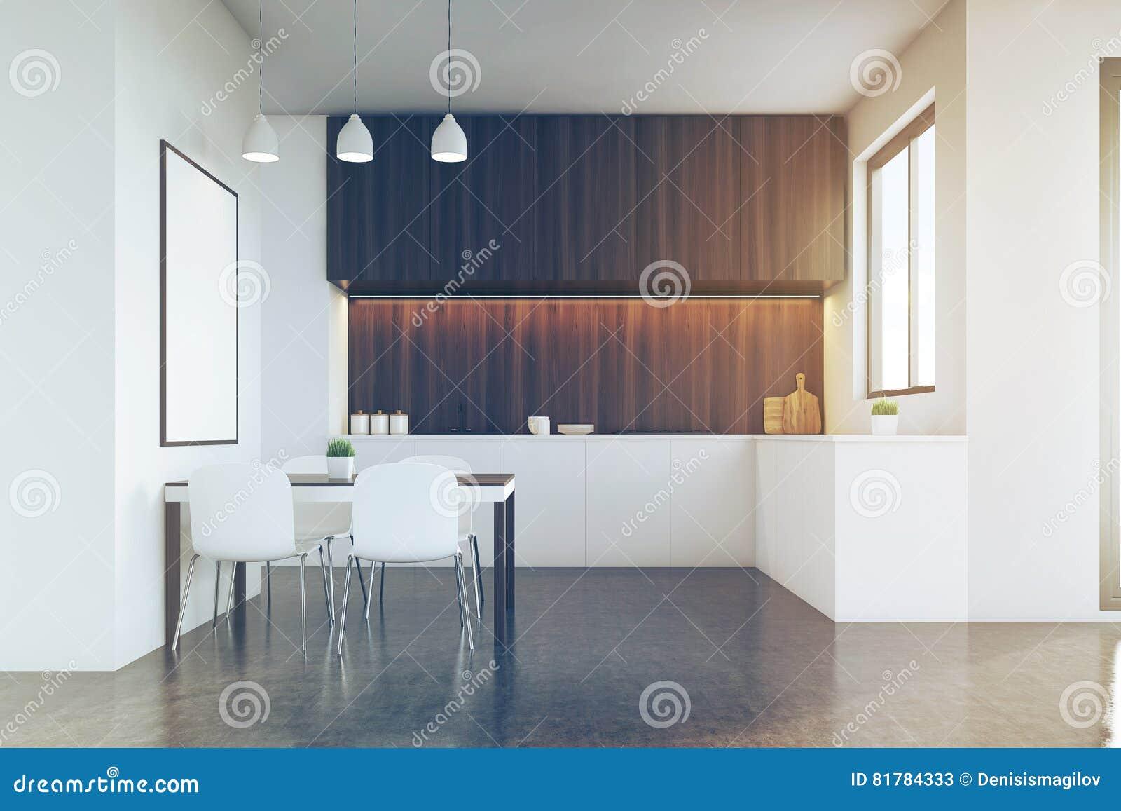 Cocinas Con Muebles Oscuros Cocina Retro Muebles Madera Barra  # Muebles Hielo Sur