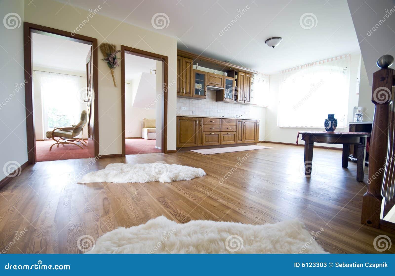 Cocina del suelo de madera dura fotos de archivo imagen - Suelo madera cocina ...