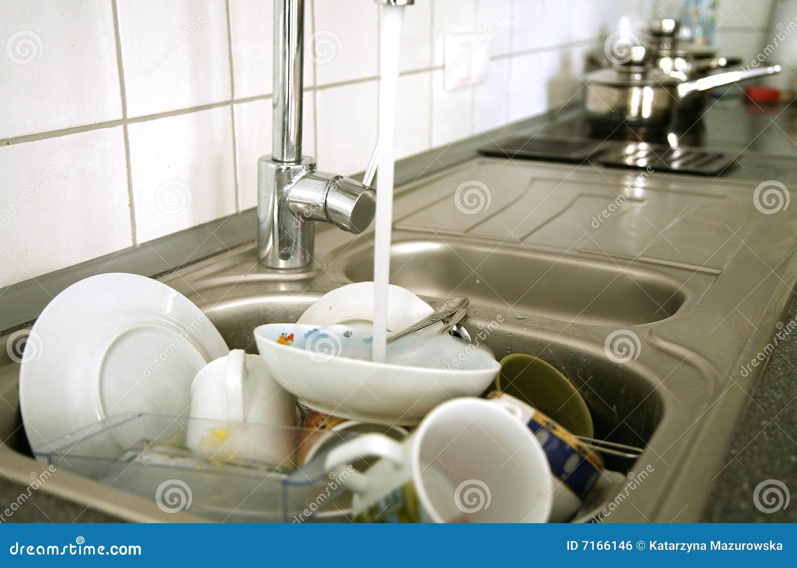 Cocina después del desayuno
