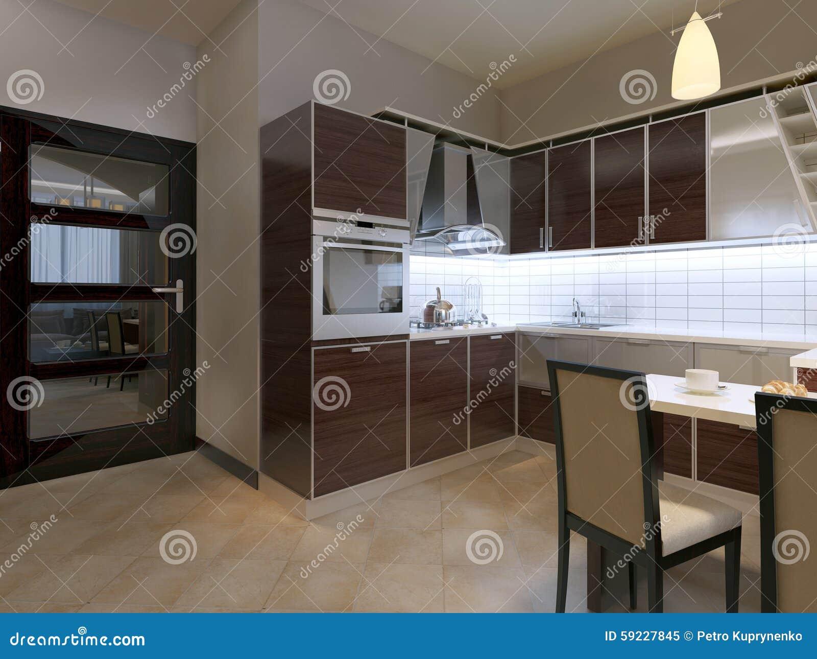 Download Cocina En Estilo Contemporáneo Stock de ilustración - Ilustración de cabina, contemporáneo: 59227845
