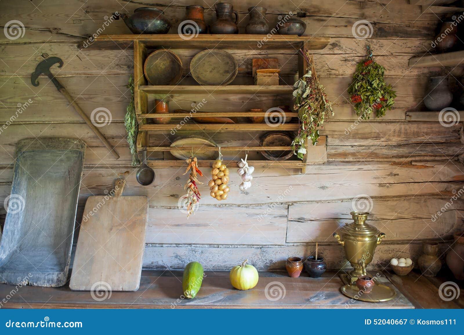 Cocina en la casa de un campesino pobre foto de archivo - La cocina en casa ...