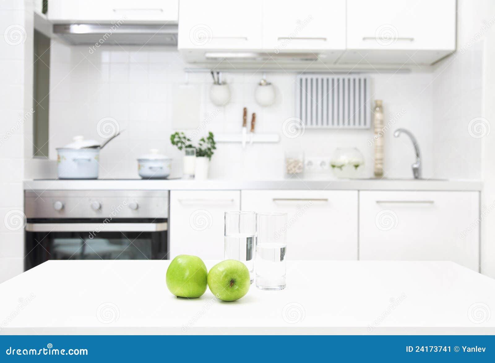 Cocina en los colores blancos