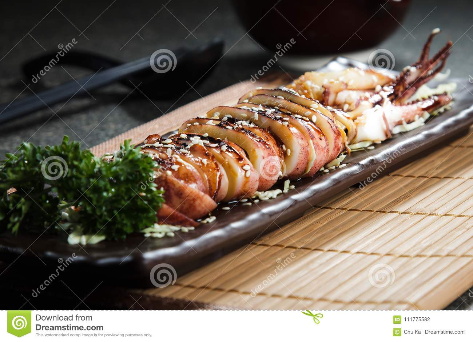Cocina fresca y sabrosa de los mariscos