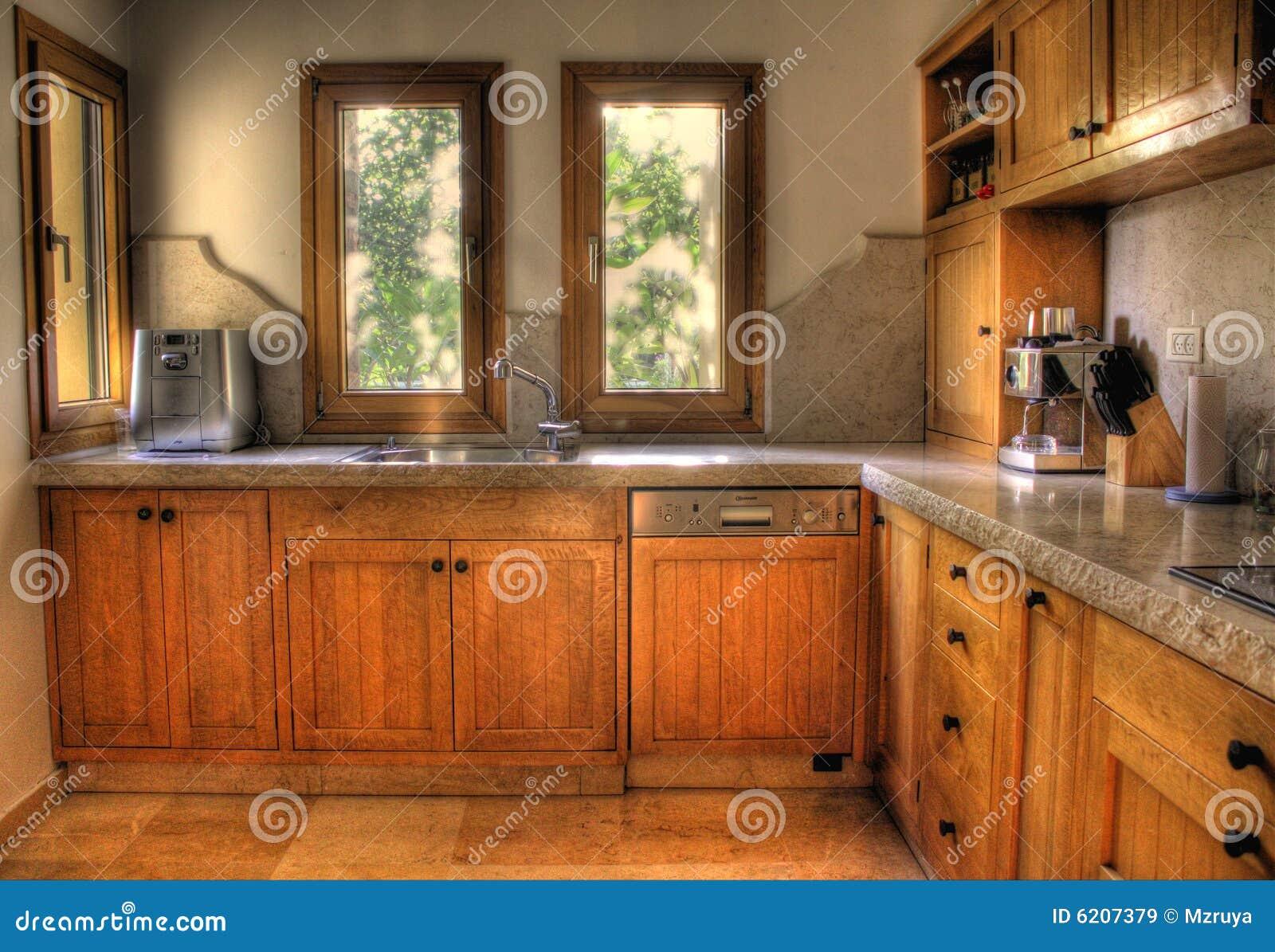 Cocina ideal imagen de archivo. Imagen de ventana, indoor - 6207379