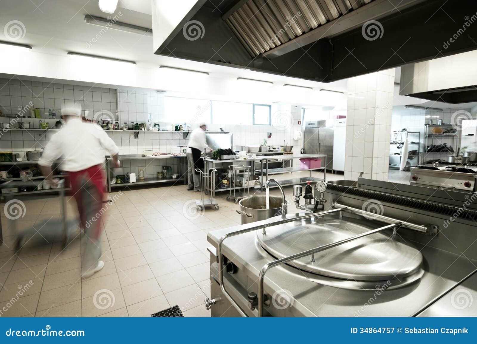 Cocina industrial fotograf a de archivo libre de regal as for Cocina wok industrial