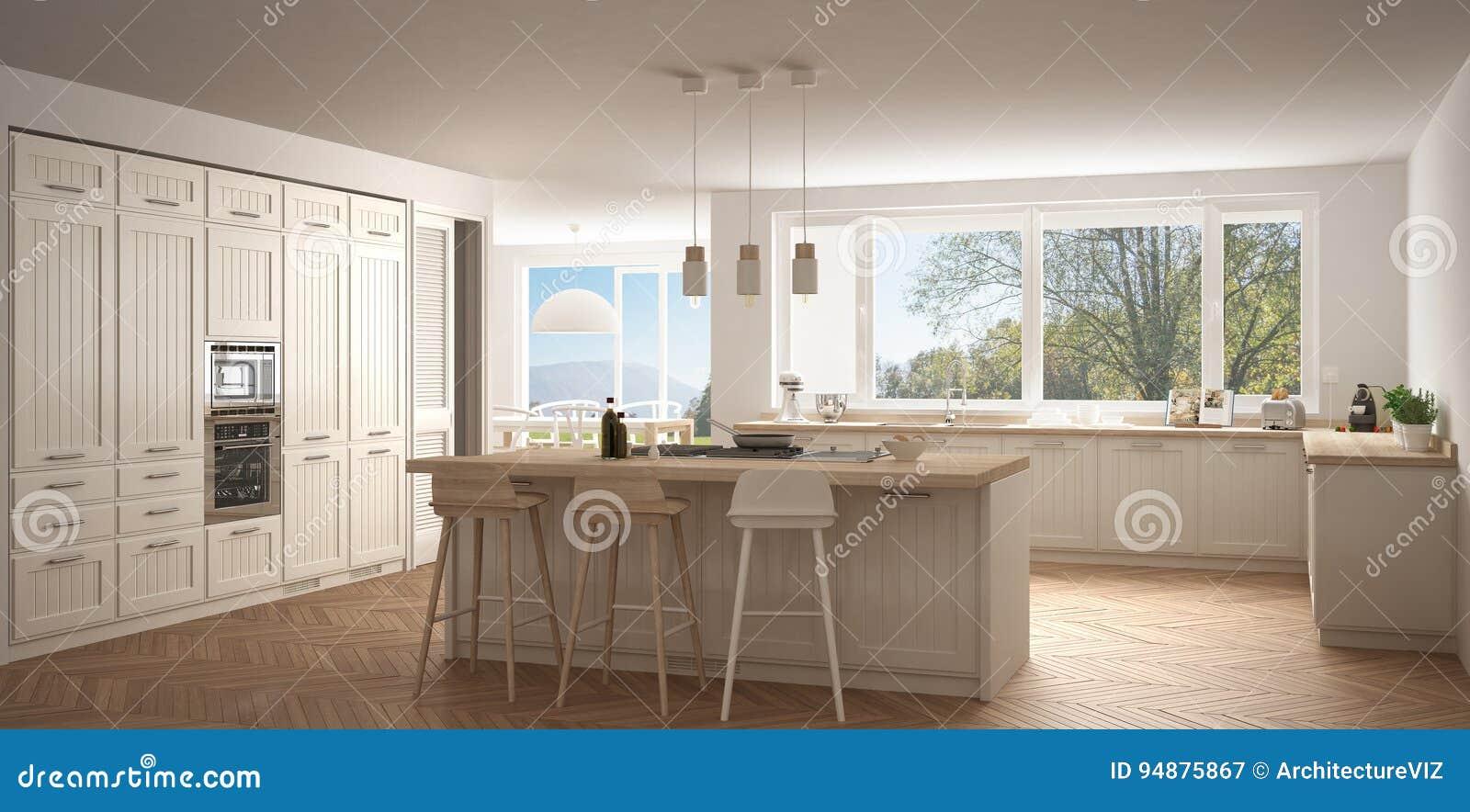 cocina moderna con las ventanas grandes wh de de la obra clsica del panorama
