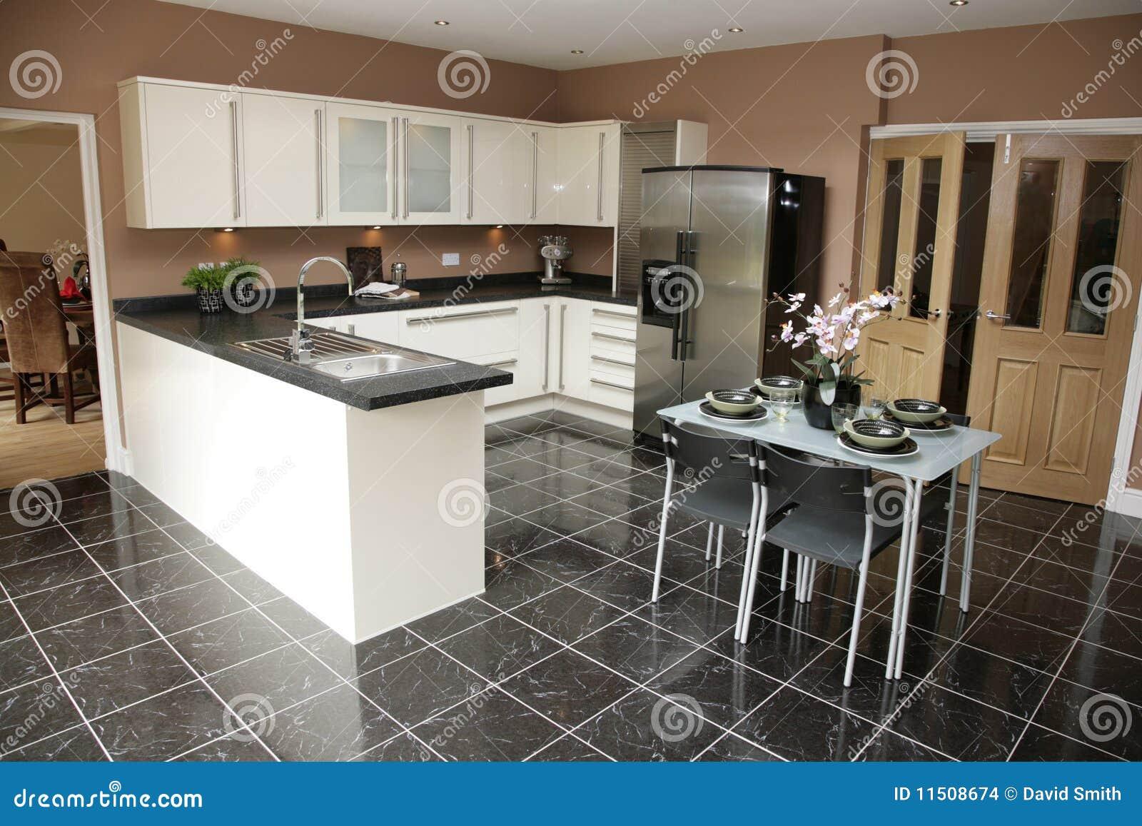 Cocina moderna de lujo imagenes de archivo imagen 11508674 for Comedor y cocina modernos
