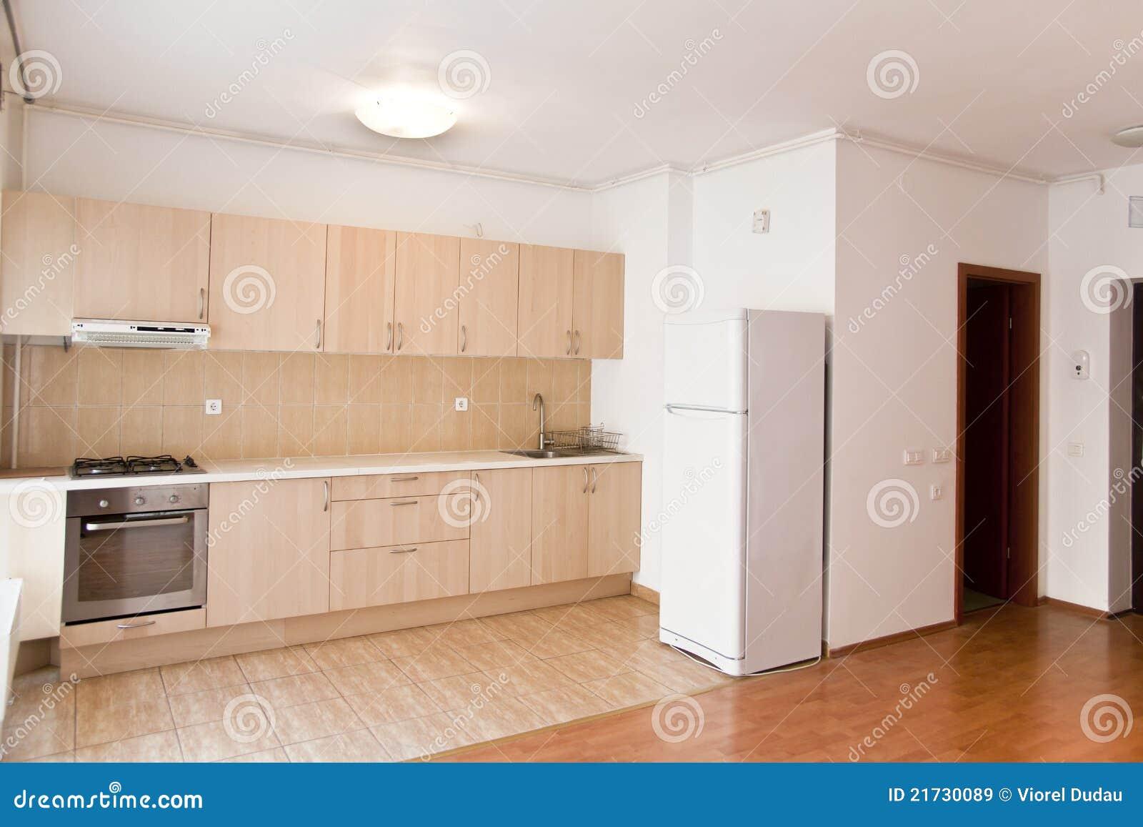Cocina moderna en un plano