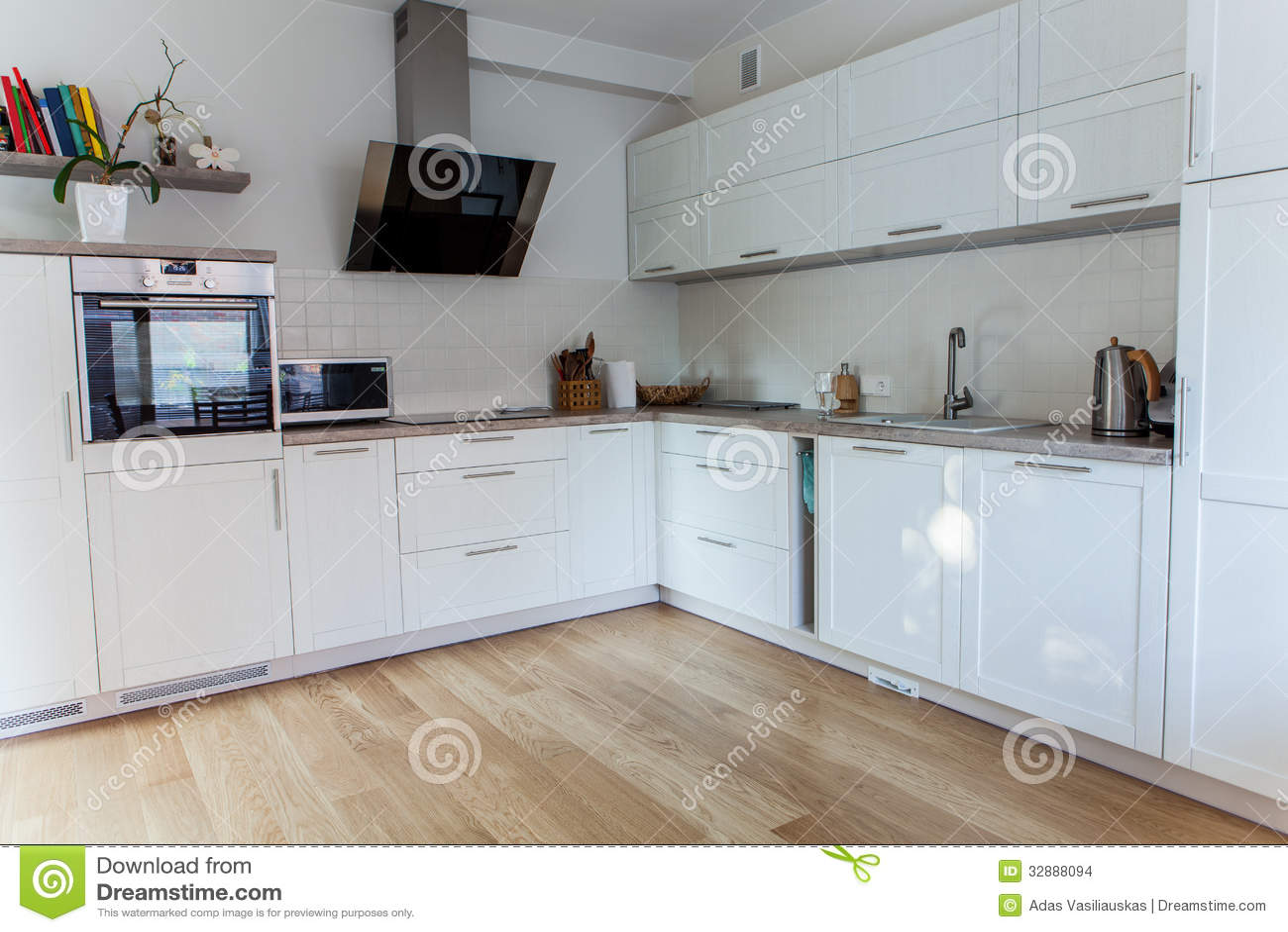Cocina moderna interior imagenes de archivo imagen 32888094 for Interior cocinas modernas