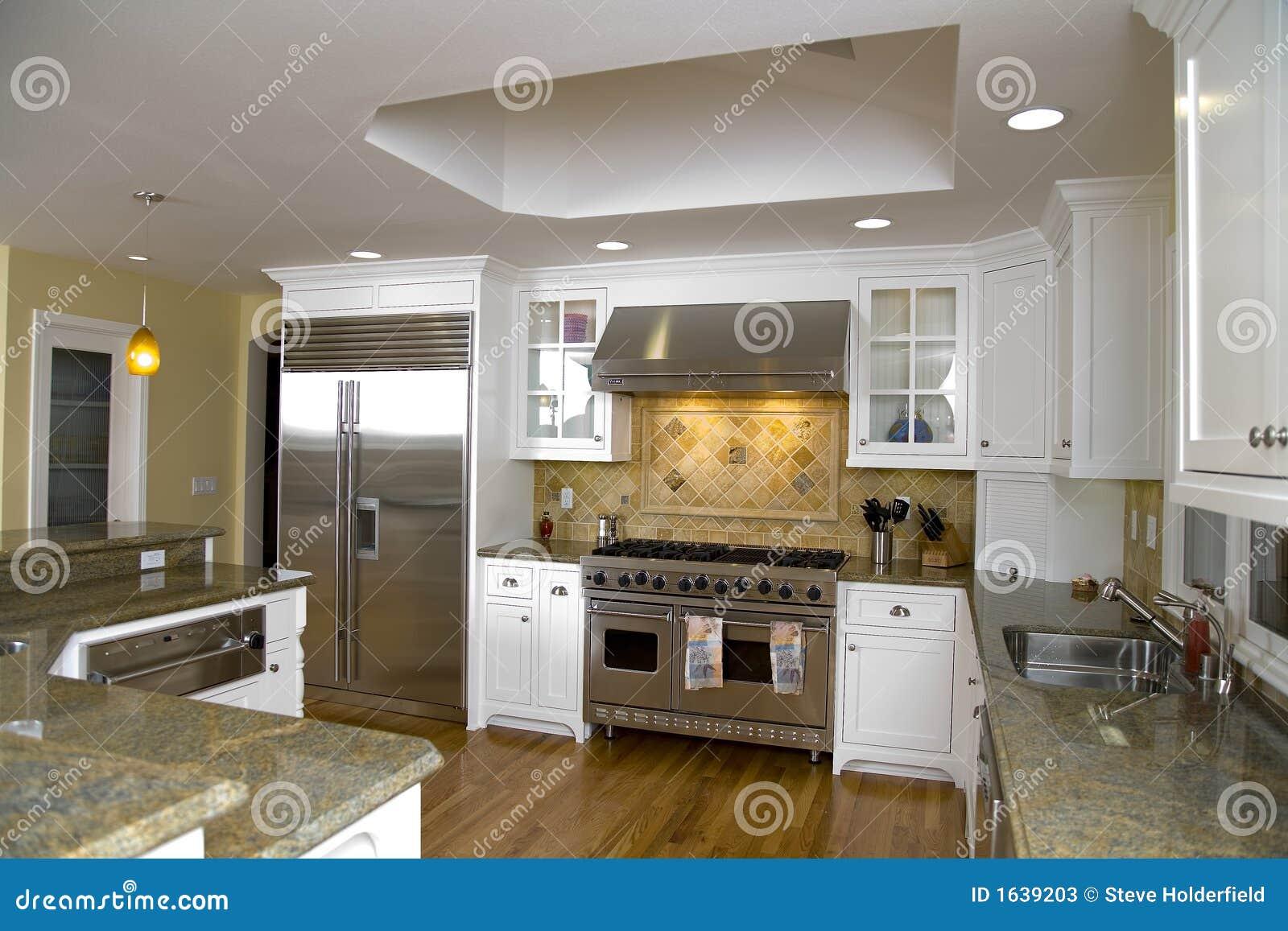 Cocina moderna lujosa remodelada fotos de archivo imagen - Fotografias de cocinas modernas ...
