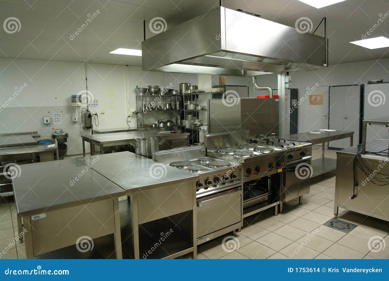 Cocina profesional foto de archivo imagen de alimento for Donde estudiar cocina