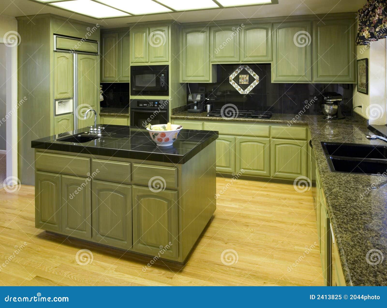 Cocina residencial suburbana