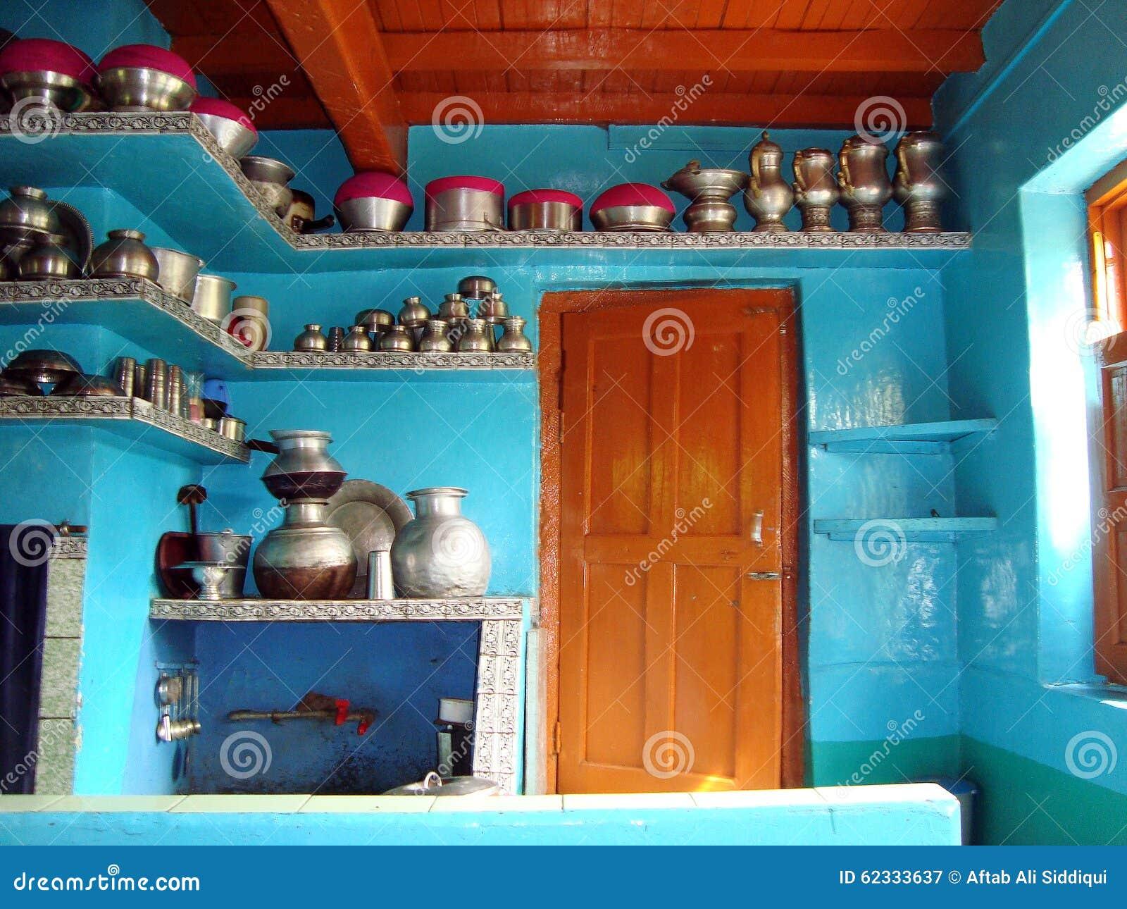 Cocina tradicional de Kashmiris, Srinagar, la India
