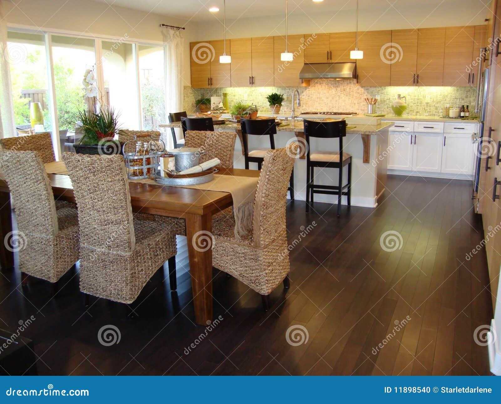 Cocina y comedor hermosos foto de archivo imagen 11898540 for Comedor y cocina modernos