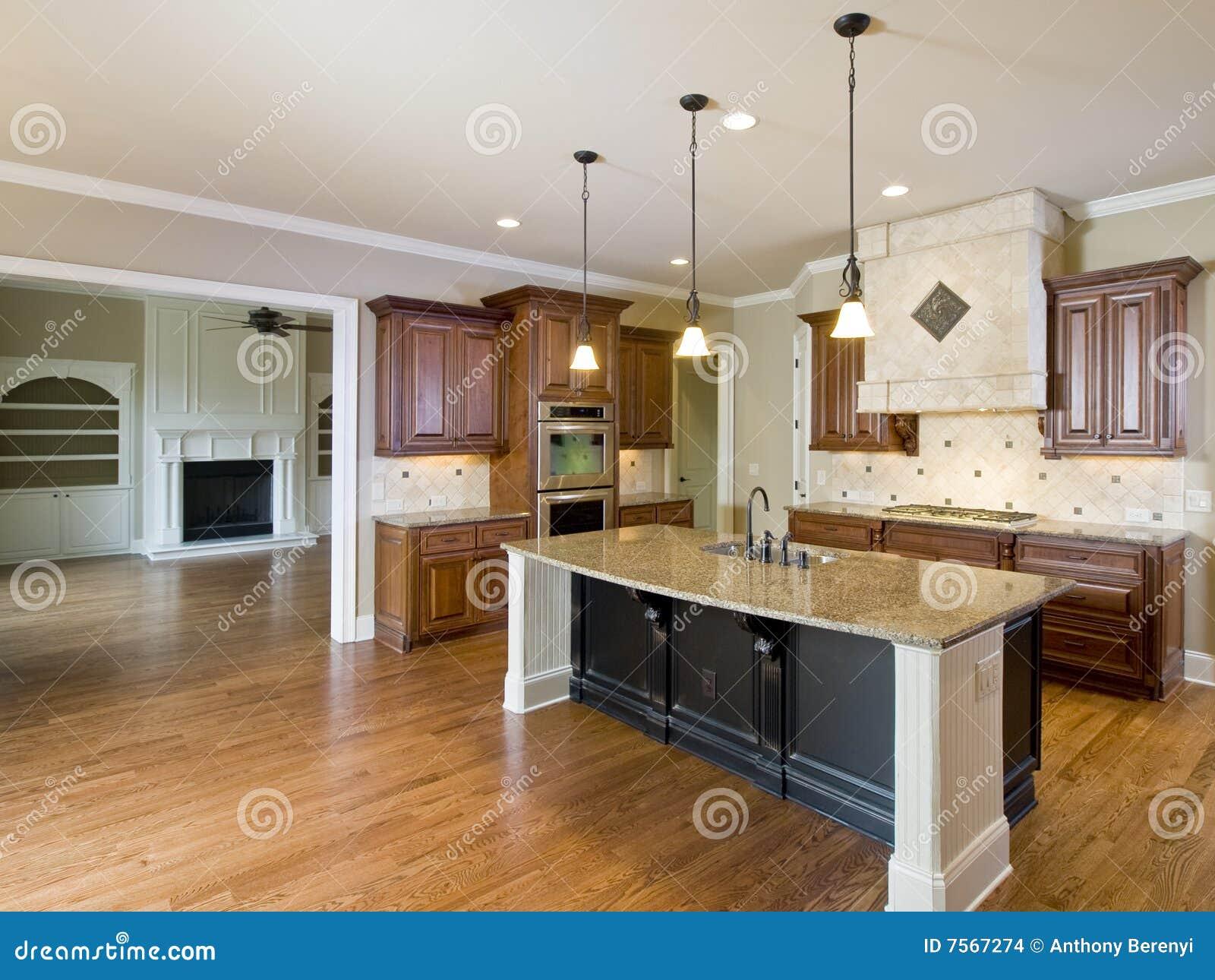 Cocina y sala de estar interiores caseras de lujo imagenes for Sala de estar y cocina