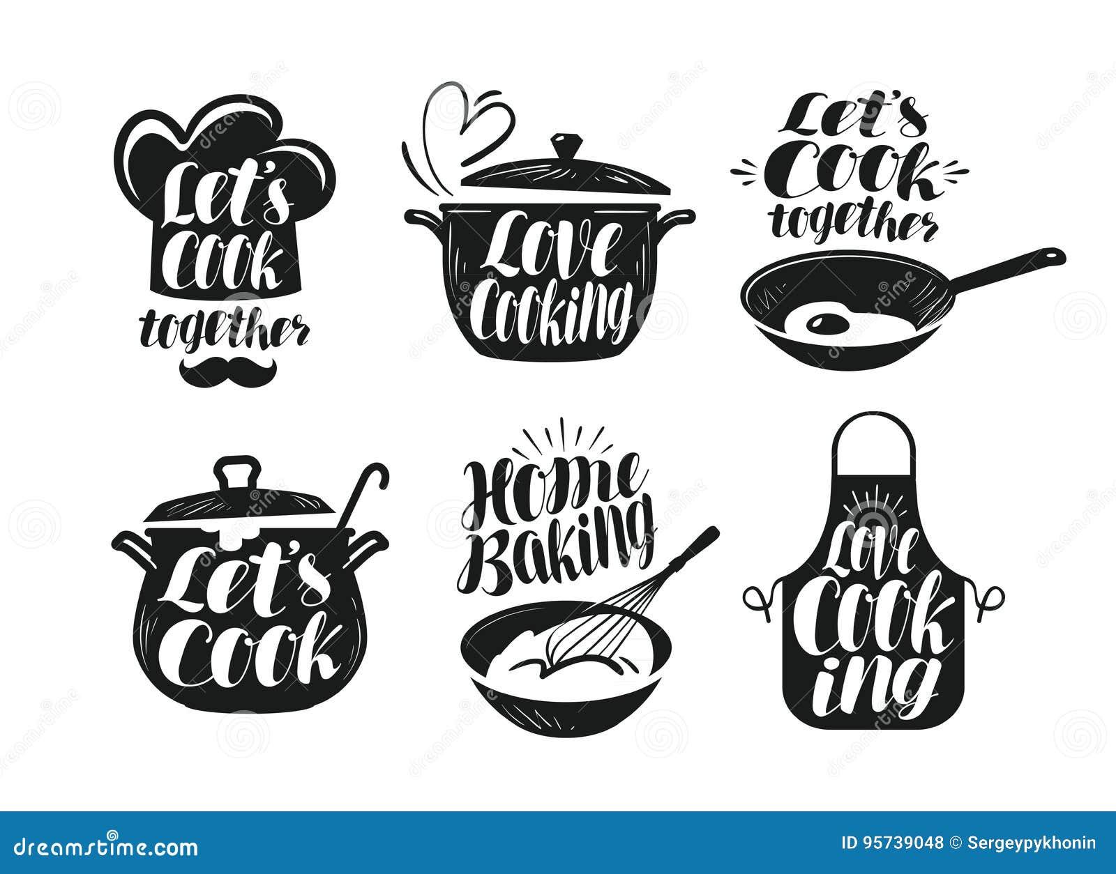 Cocinando cocina sistema de etiqueta de la cocina for Utensilios de cocina logo