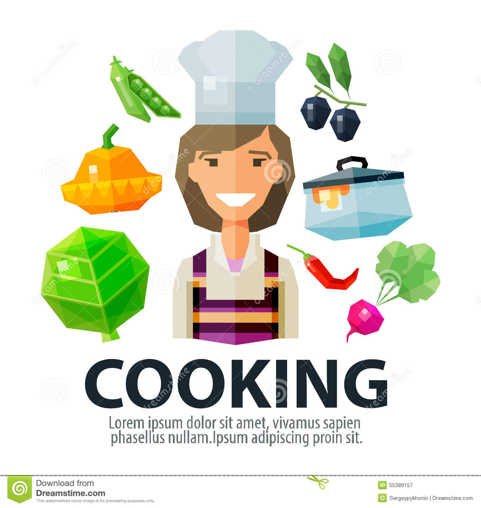 Cocinar La Plantilla Del Diseño Del Logotipo Del Vector Cocina O ...