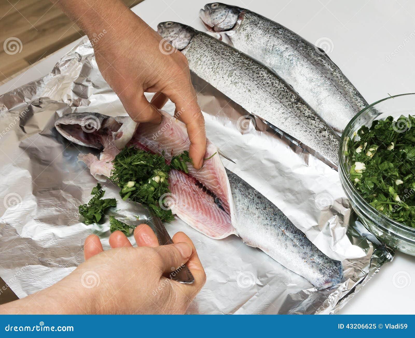 Cocinar La Trucha En Hoja
