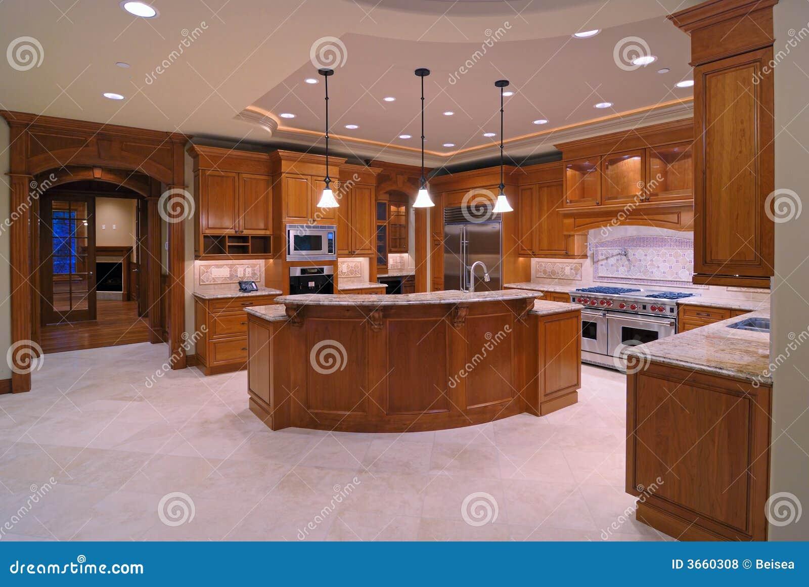Cocinas americanas foto de archivo imagen de techo for Imagenes de muebles de cocina americanas