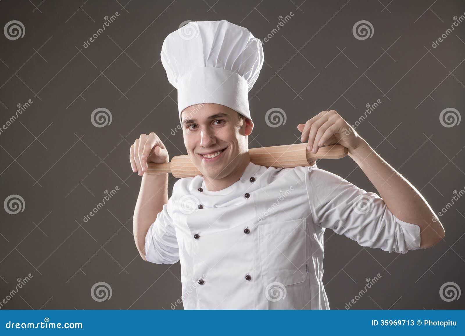 Cocinero con el rodillo