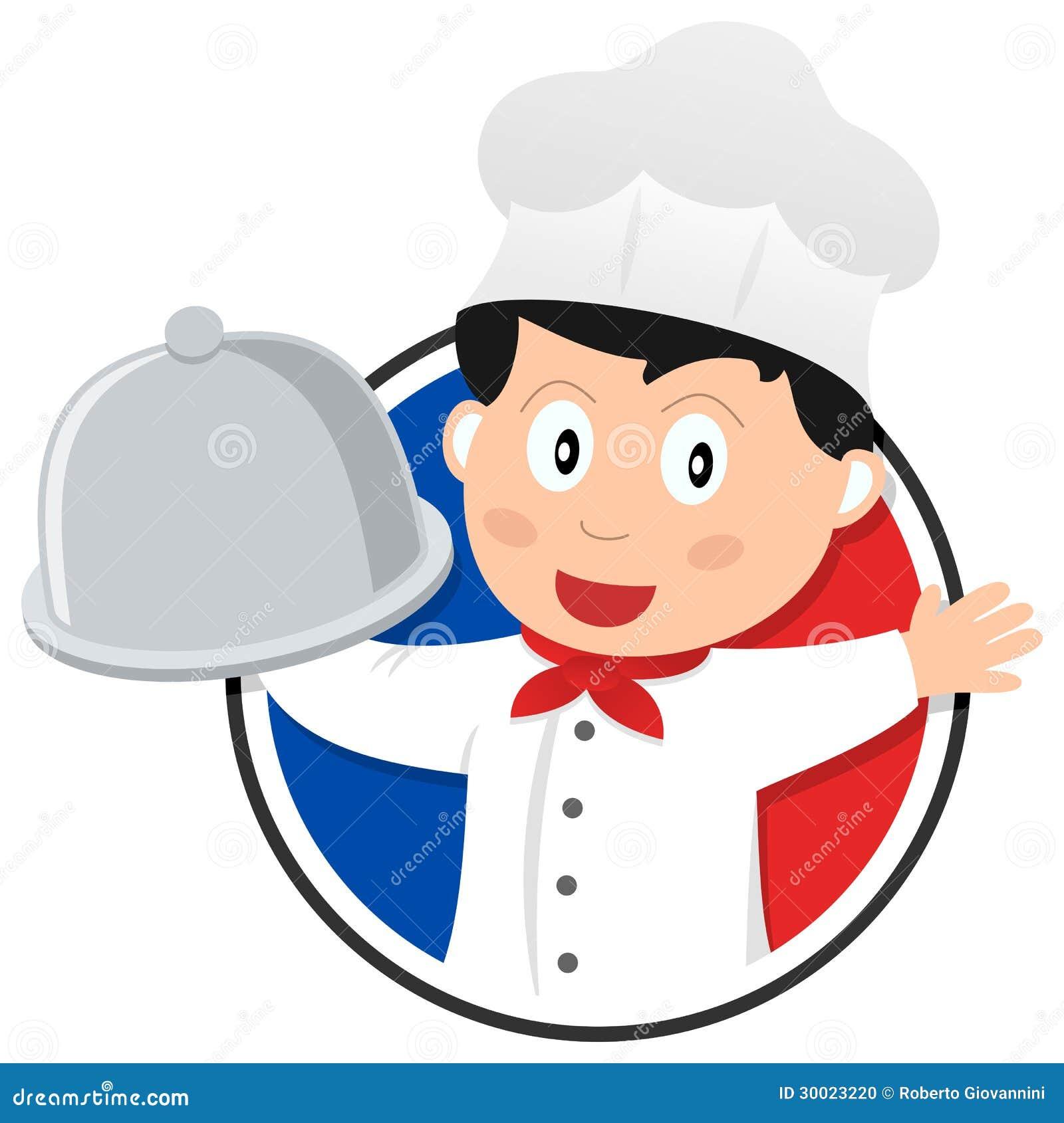 Logotipo franc s del cocinero de la cocina foto de archivo for Cocinero en frances