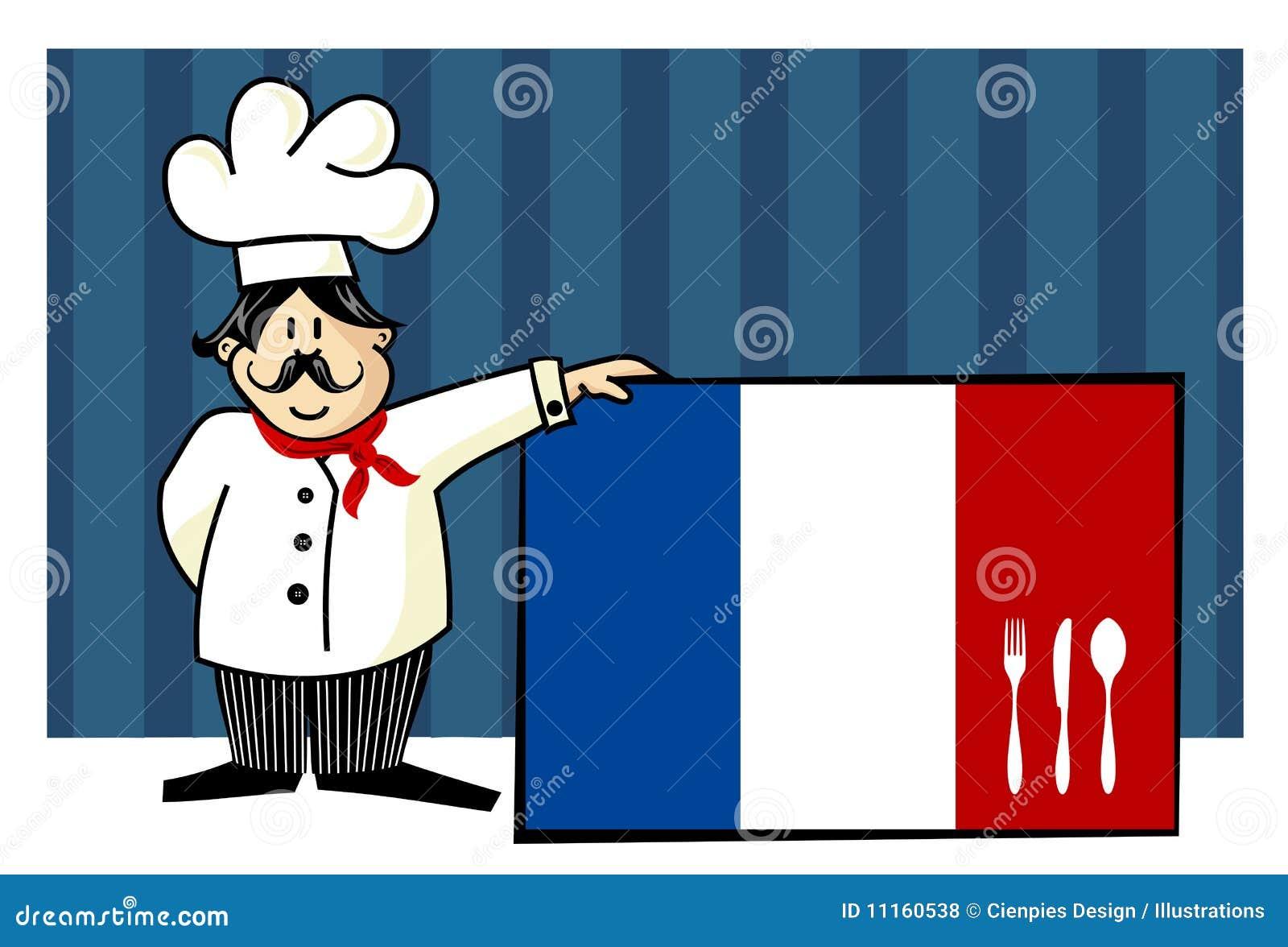 Cocinero de la cocina francesa fotos de archivo libres de for Menu frances tipico
