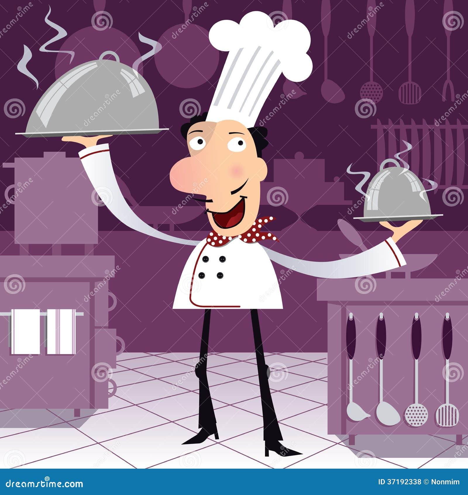 Cocinero franc s feliz en la cocina fotos de archivo for Cocinero en frances