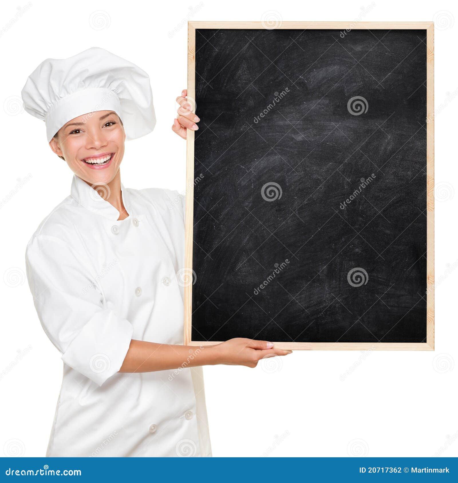 Cocinero que muestra la muestra