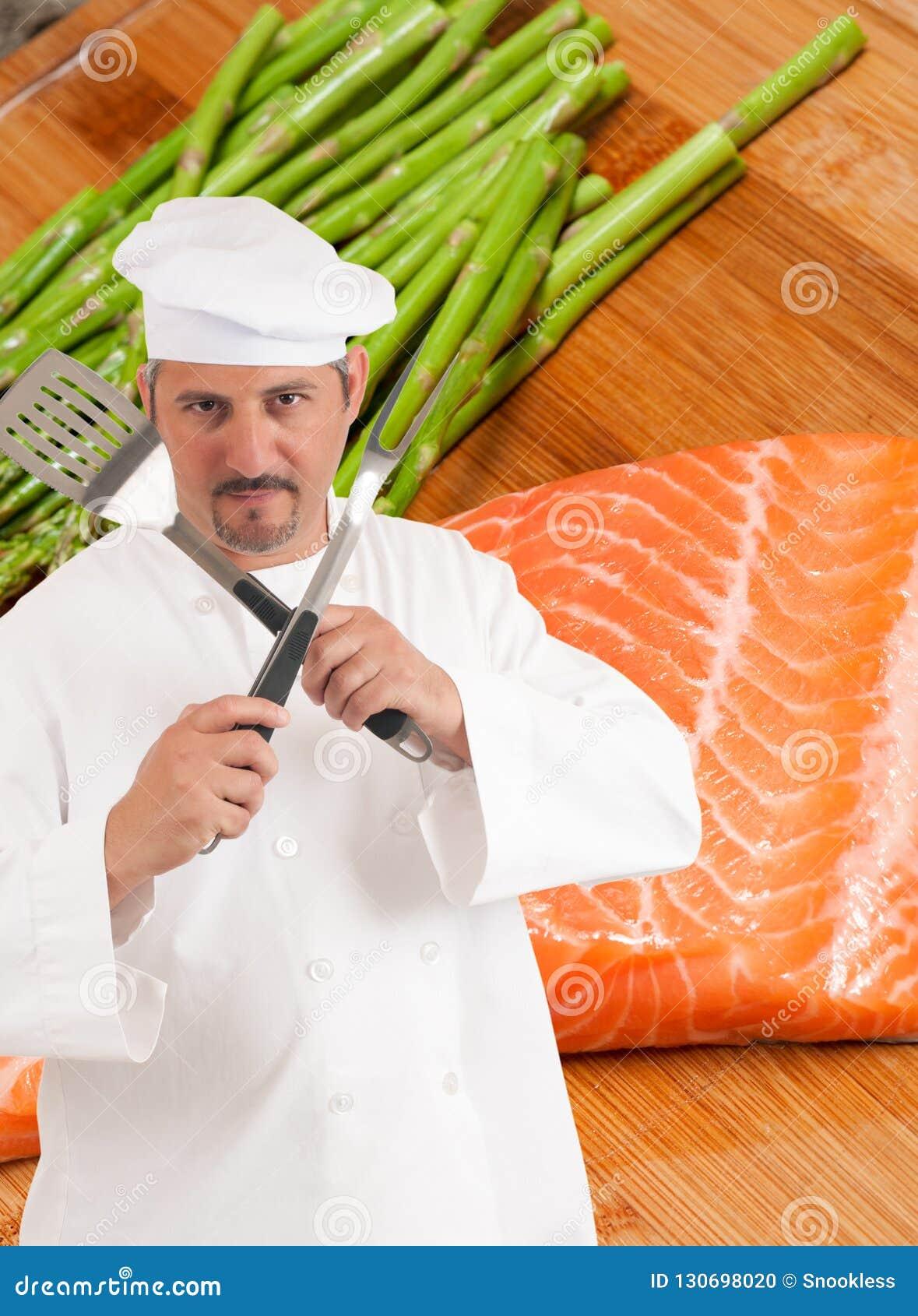 Cocinero y consumición sana