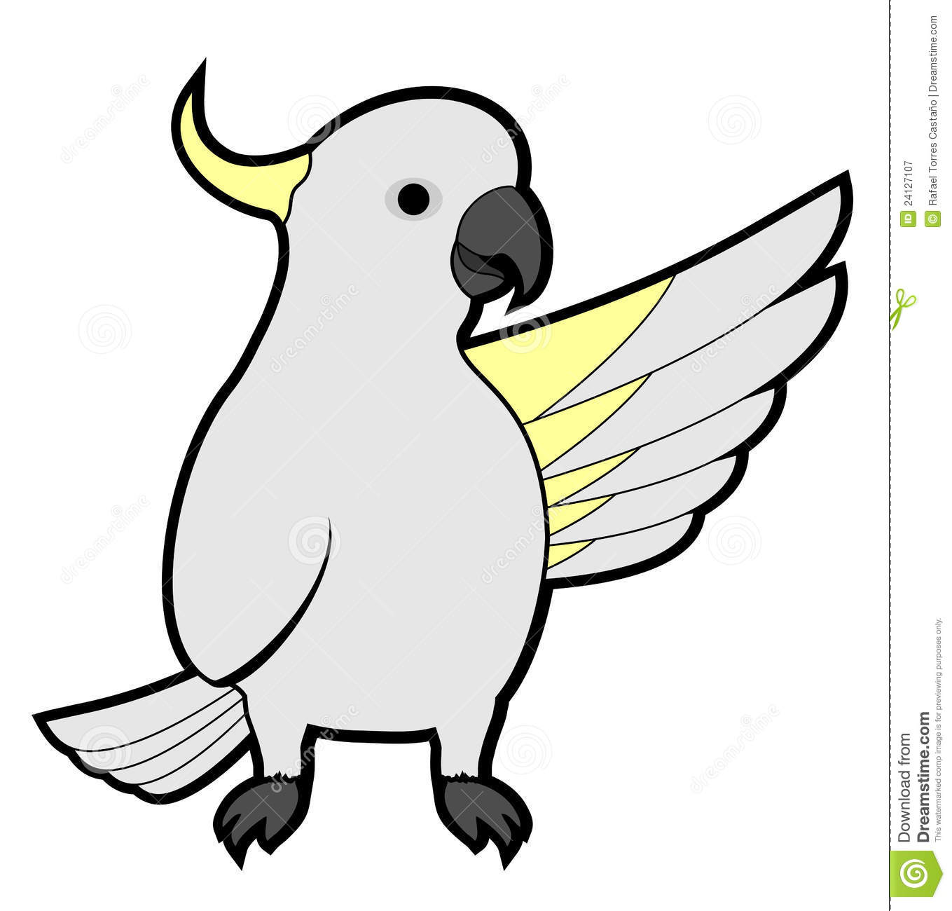 Cockatoo Hello Royalty Free Stock Photography Image