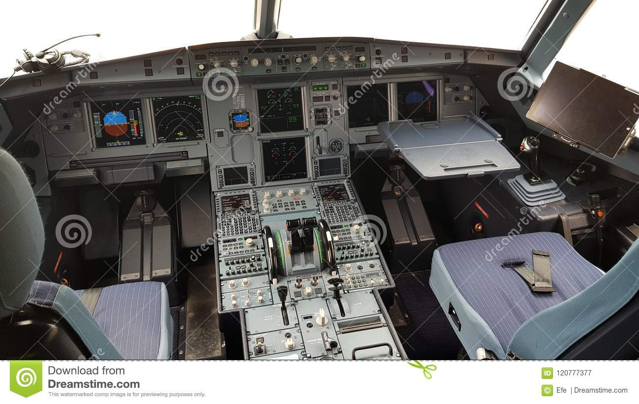 A320 Cockpit editorial photography  Image of airbus - 120777377