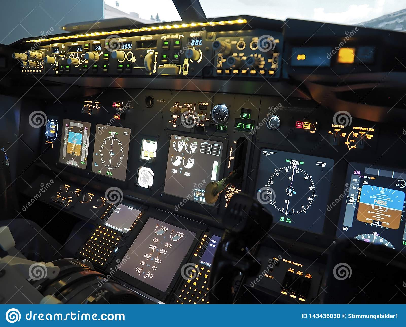 Cockpit Of A Boeing 737 Airplane Editorial Image - Image of
