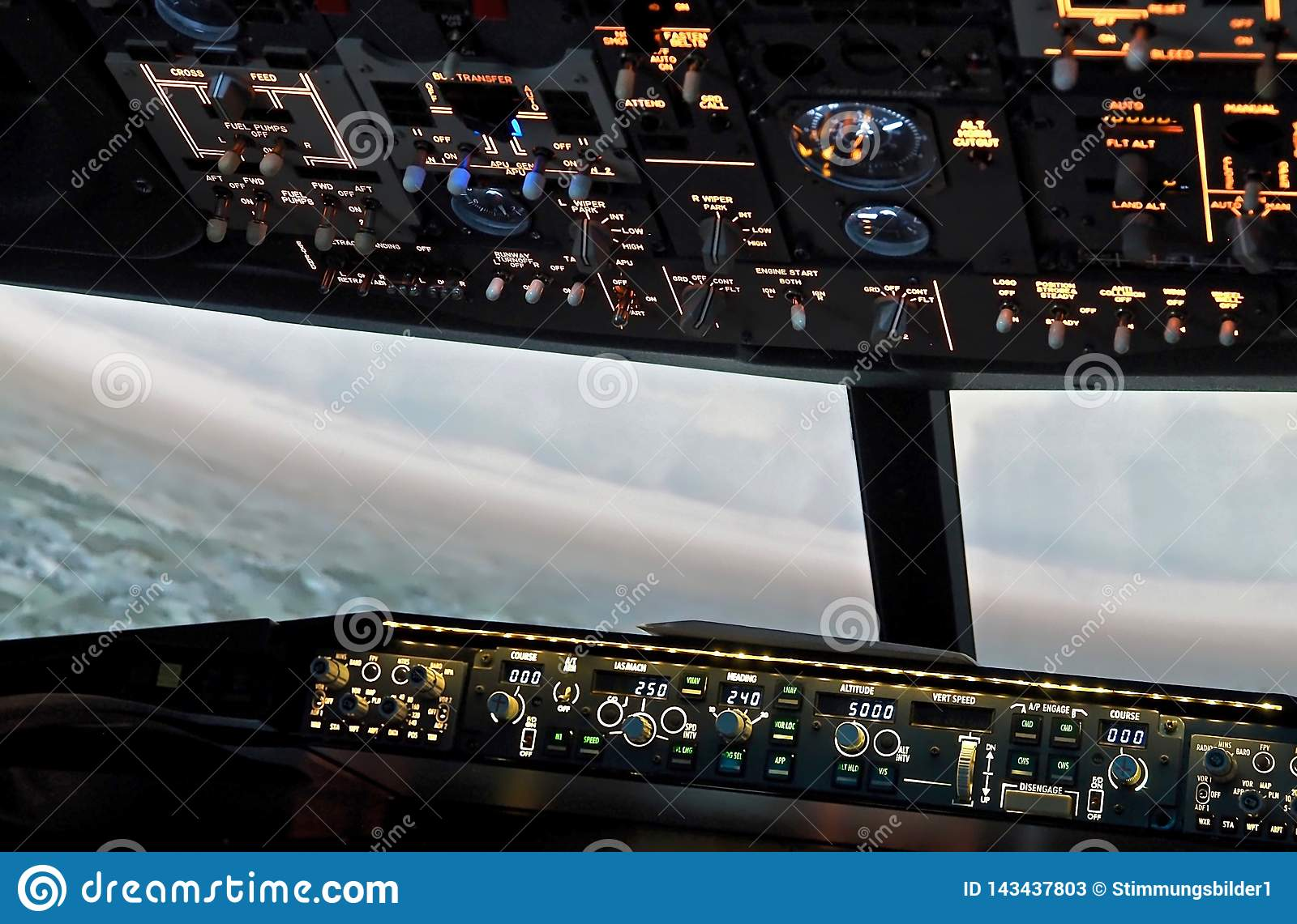 Cockpit Of A Boeing 737 Airplane Editorial Stock Photo