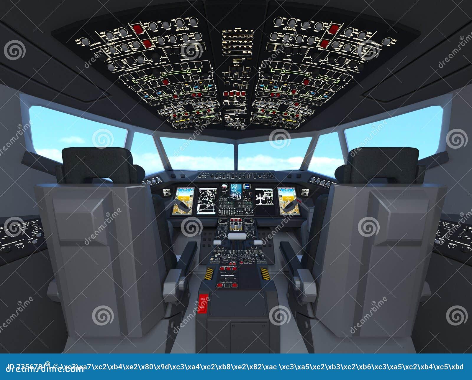 Cockpit stock illustration  Illustration of plane, cockpit - 73567811