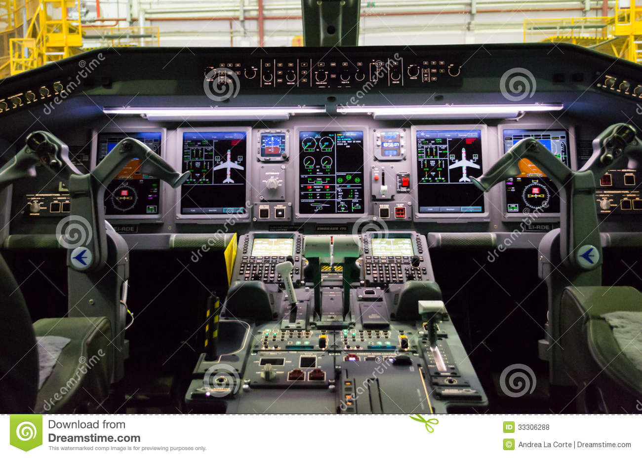 Cockpit Of Embraer Editorial Stock Photo Image 33306288