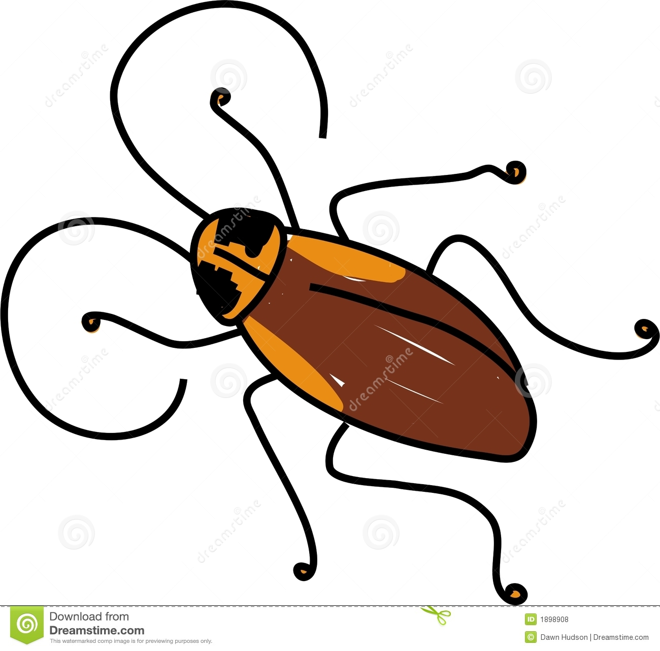 Clip Art Insect Cockroach Royalty Free...