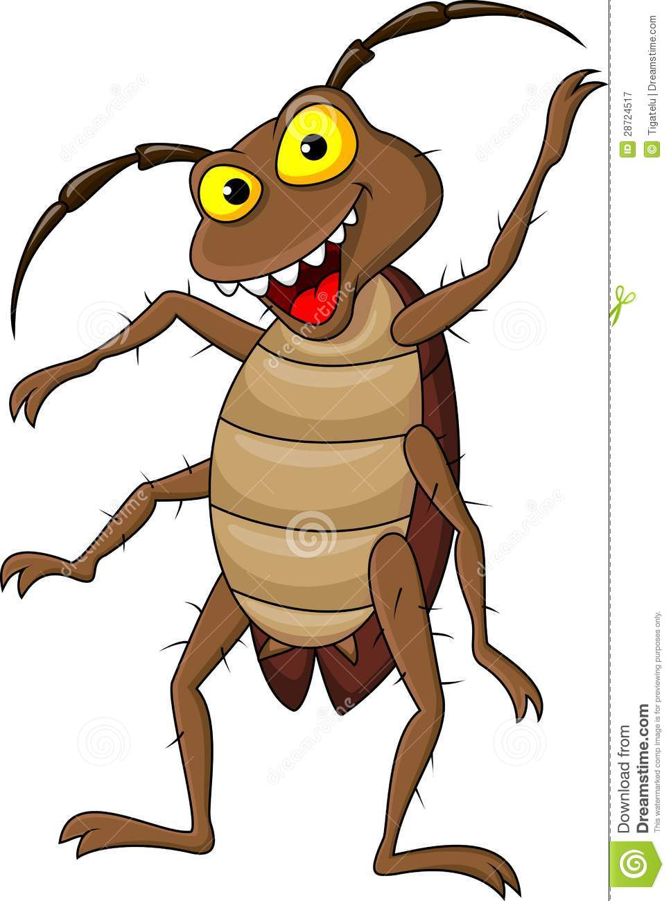 Cockroach Cartoon Royalty Free Stock Photography - Image: 28724517