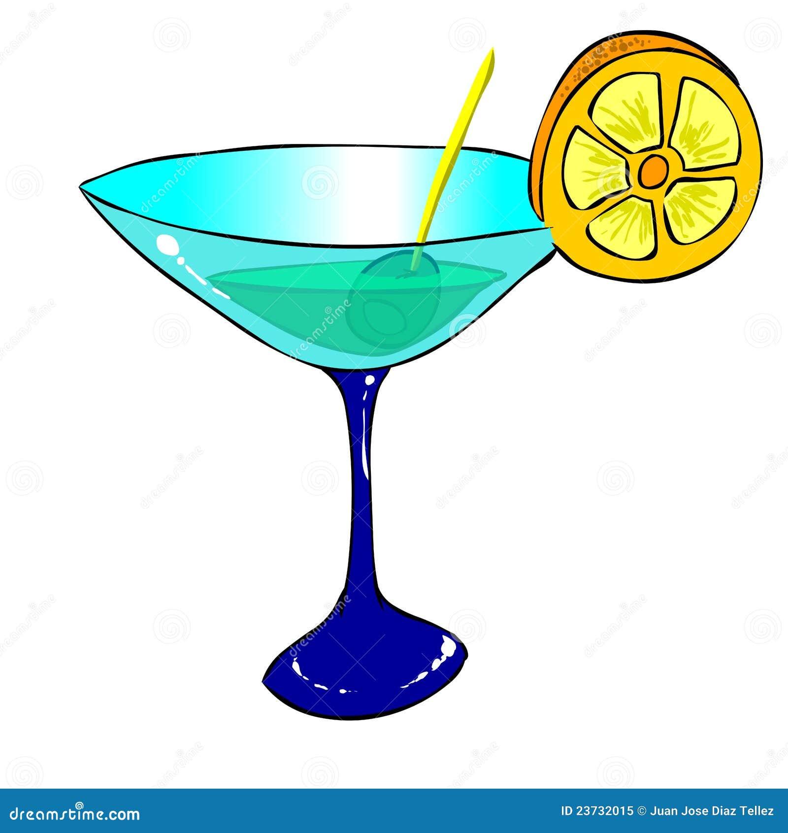 Cocktail illustration de vecteur image du bleu adobe 23732015 - Dessin cocktail ...