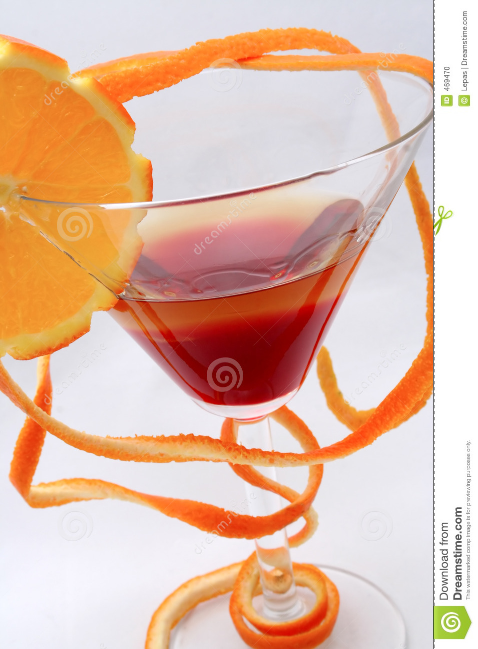 Download Cocktail stock photo. Image of orange, isolated, drink - 469470